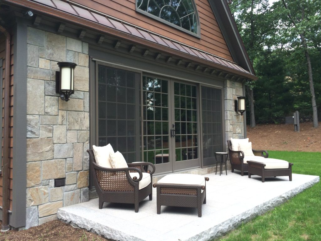 Private Guesthouse Exterior Finishes, Weston MA